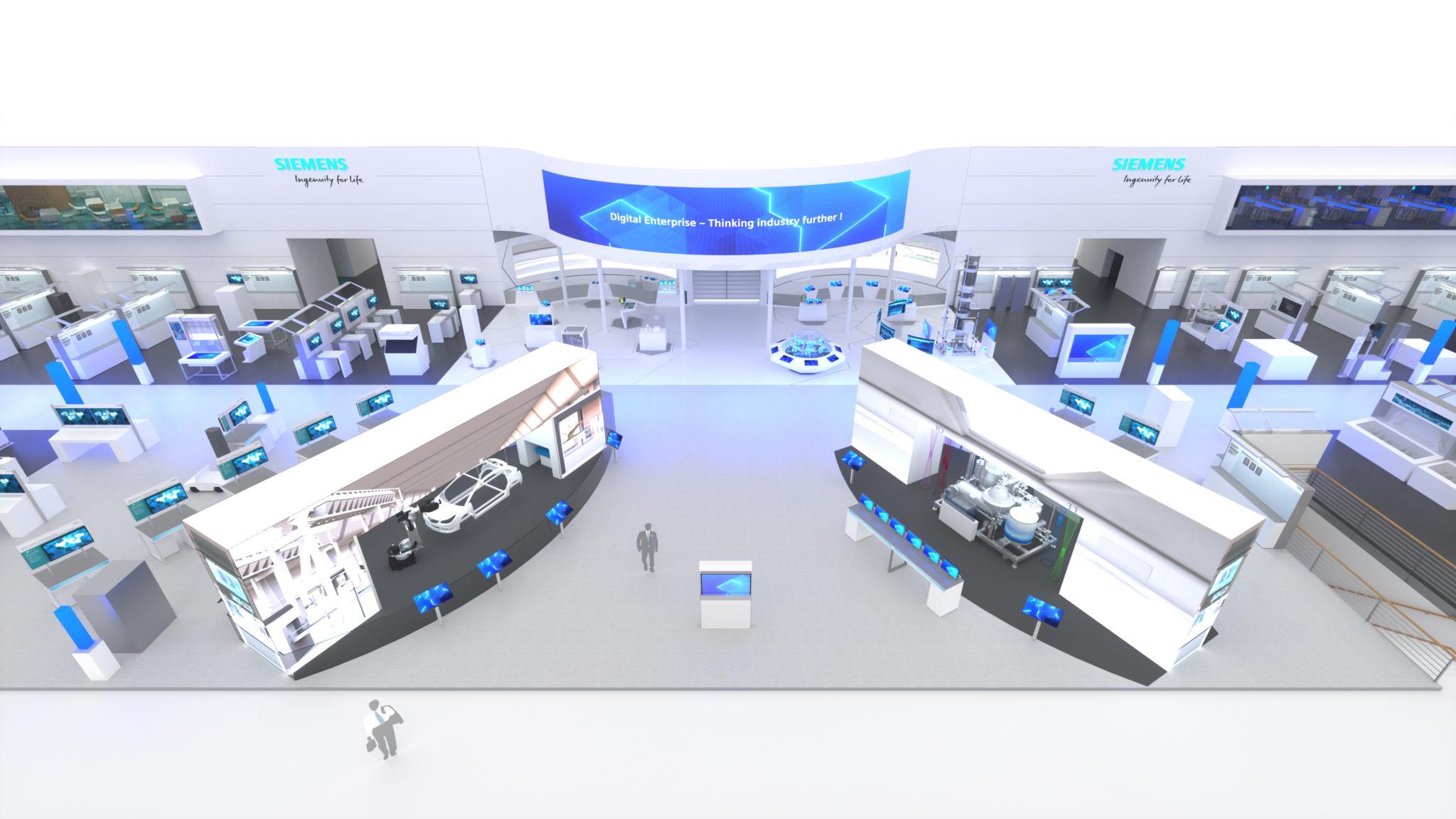 Siemens contará con un escaparate específicamente para la industria automotriz donde mostrará una producción flexible y eficiente de baterías y coches eléctricos (Siemens)