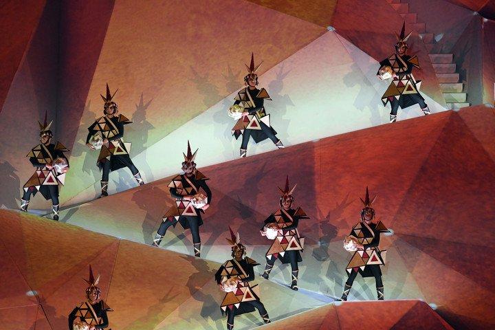 El llamado, el tercer acto de una ceremonia muy patriótica en Lima. Foto Maxi Failla