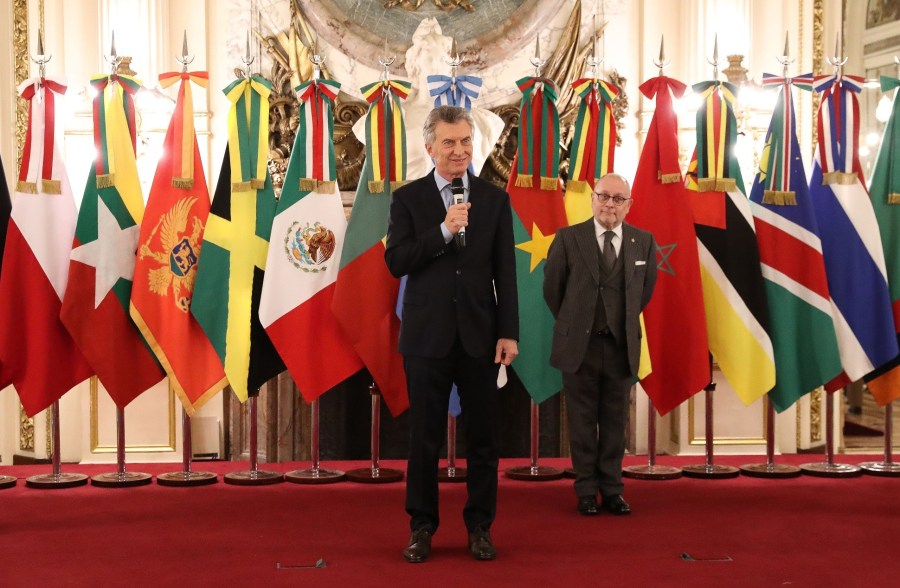 El Presidente Macri recibe las cartas credenciales a los nuevos embajadores