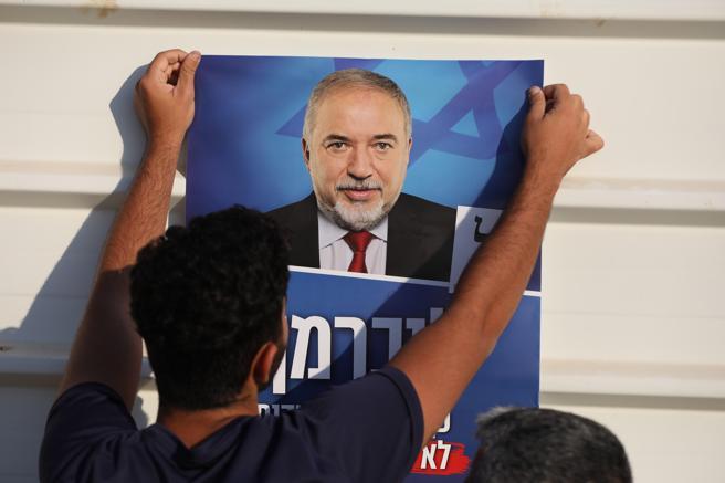Imagen del líder del partido Israel Nuestro Hogar, Avigdor Lieberman (ABIR SULTAN / EFE)