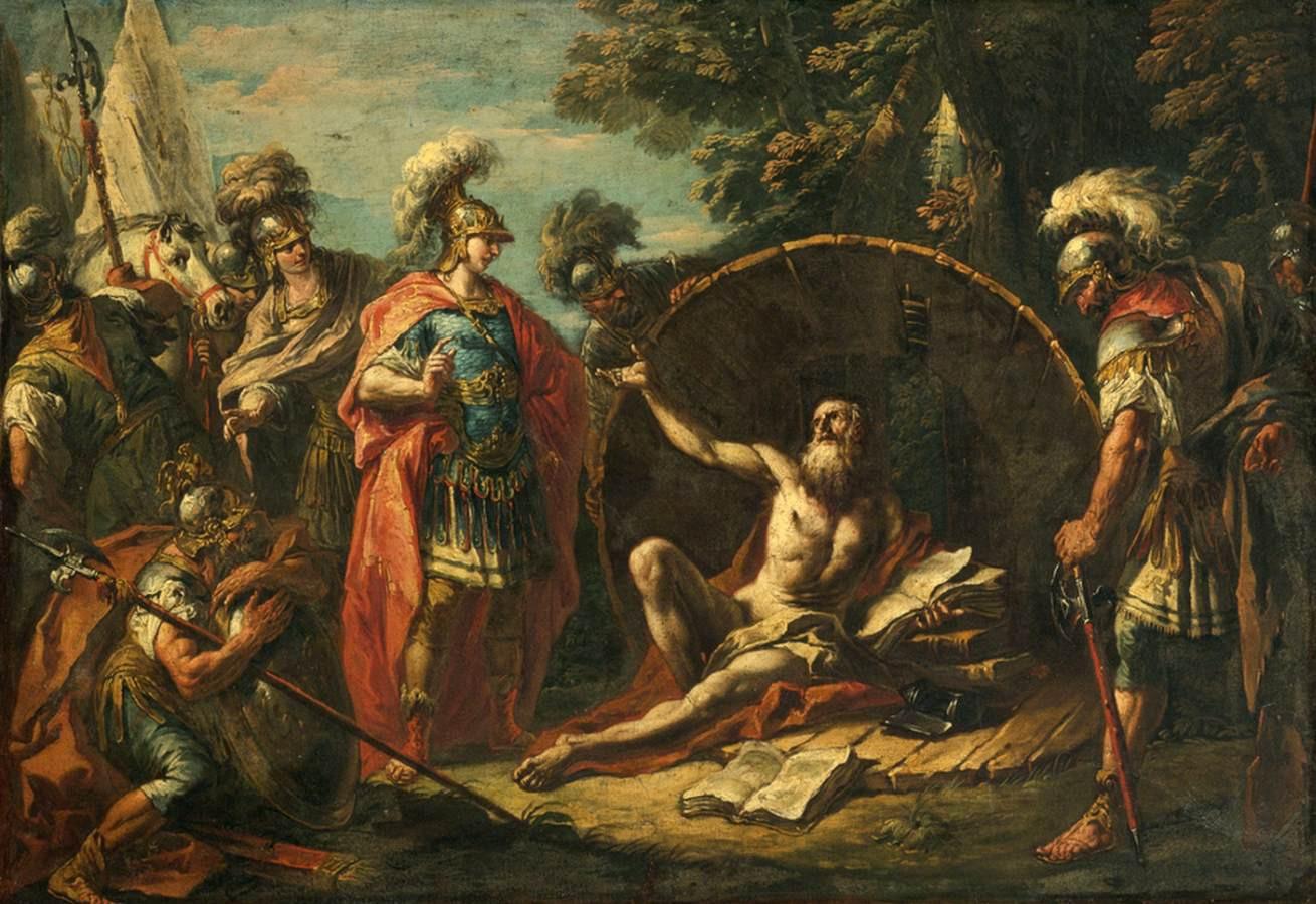 Filósofos de la antigüedad - Diógenes y Alejandro Magno