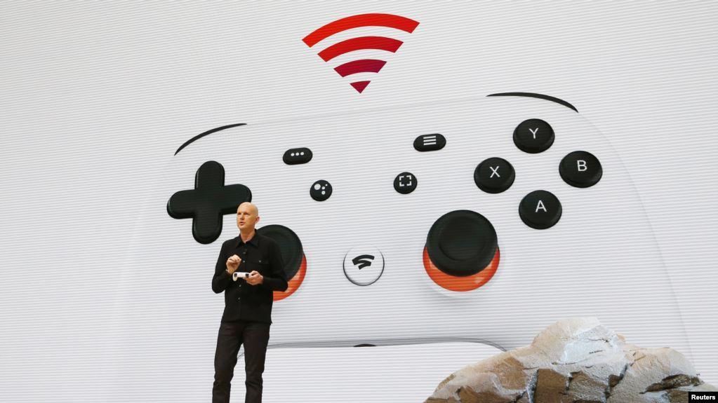 El vicepresidente y gerente general de Google, Phil Harrison, anuncia el nuevo servicio de transmisión de videojuegos Stadia, en la Conferencia de Desarrolladores de Juegos. San Francisco, California, EE. UU., 19-3-19.  Foto Archivo Google