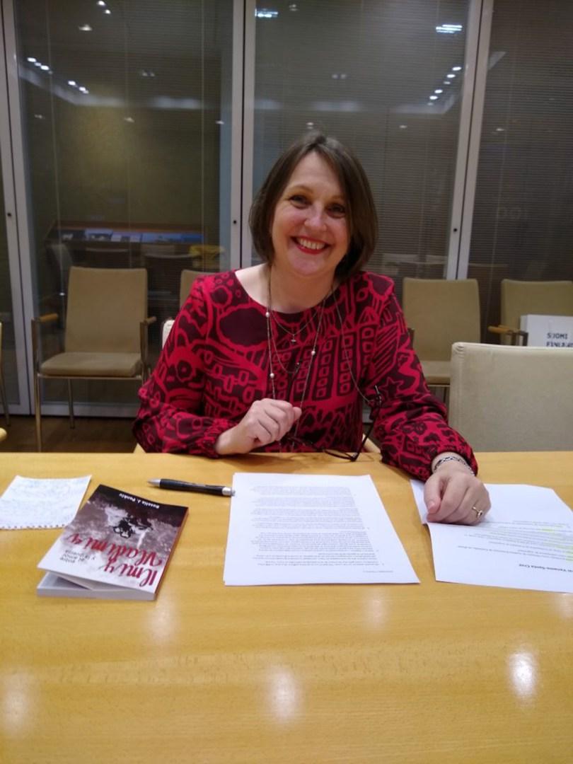 Embajadora de Finlandia en Argentina Kirsi Vanamo-Santacruz