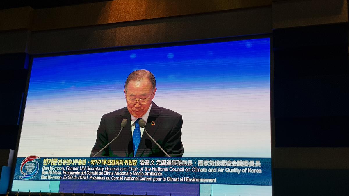 Sr. Ban Ki-Moon, ex Secretario General de la ONU habla en la Cumbre