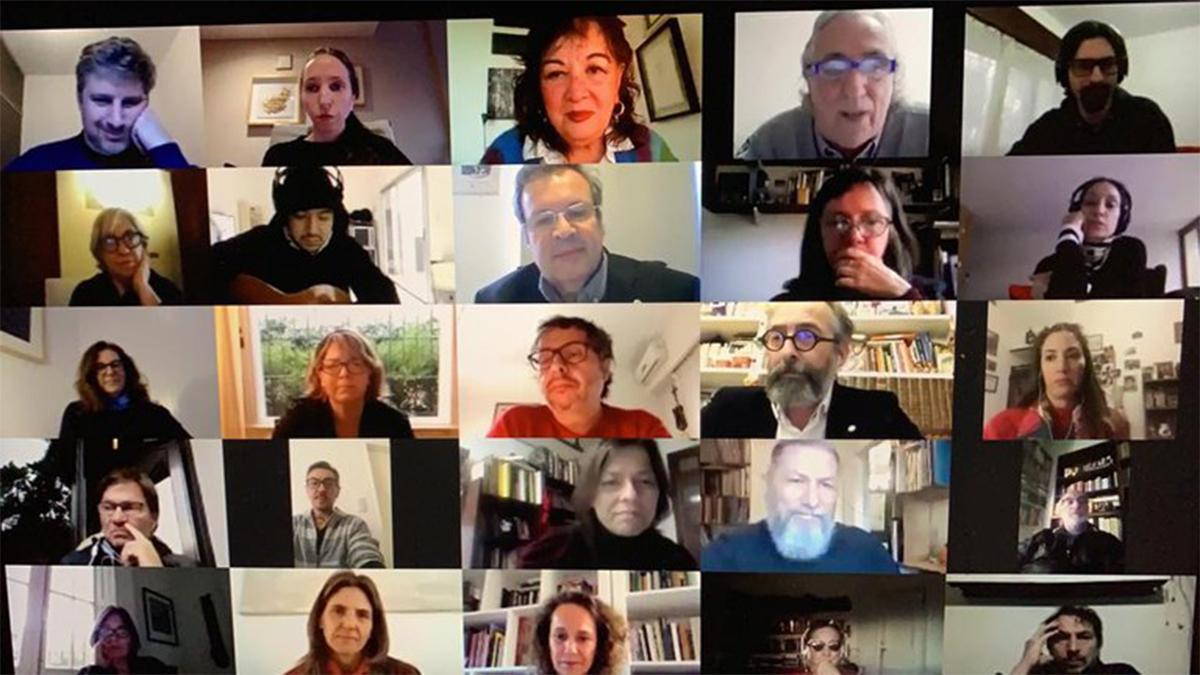 Algunos integrantes del jurado Becas Sostener Cultura II
