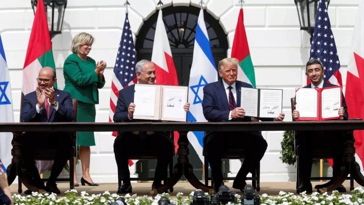 En la Casa Blanca, este 15 de septiembre quedaron sellados los históricos Acuerdos de Abraham, con los que Israel normaliza sus relaciones diplomáticas con Emiratos Árabes Unidos y Bahrein.