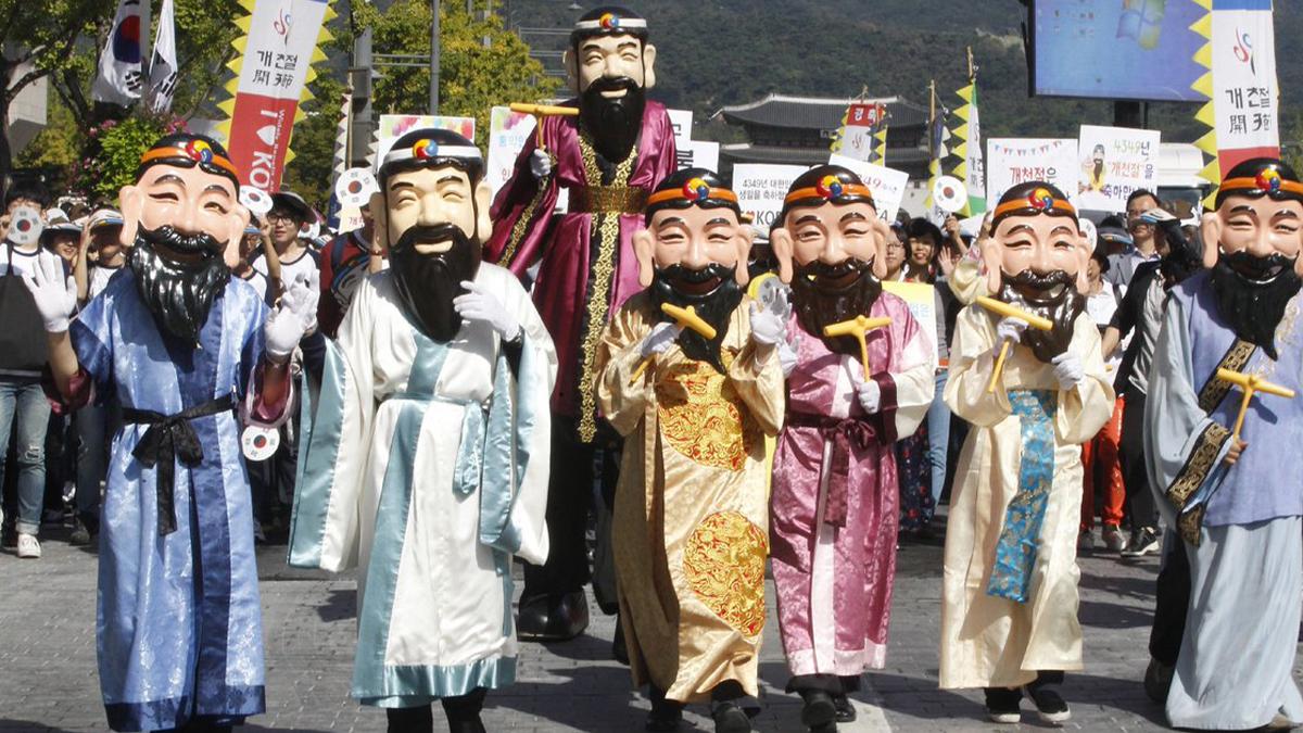 Dangun es un hijo de Hwangung y primer rey en la historia de Corea