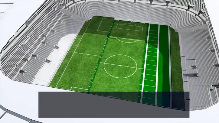 Así se quita y se pone el césped del nuevo estadio del Tottenham