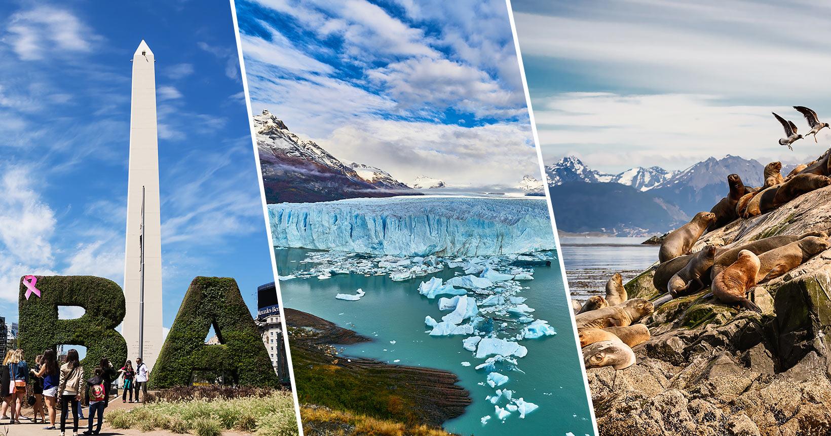 Argentina tiene mas de 50 destinos turísticos en su territorio