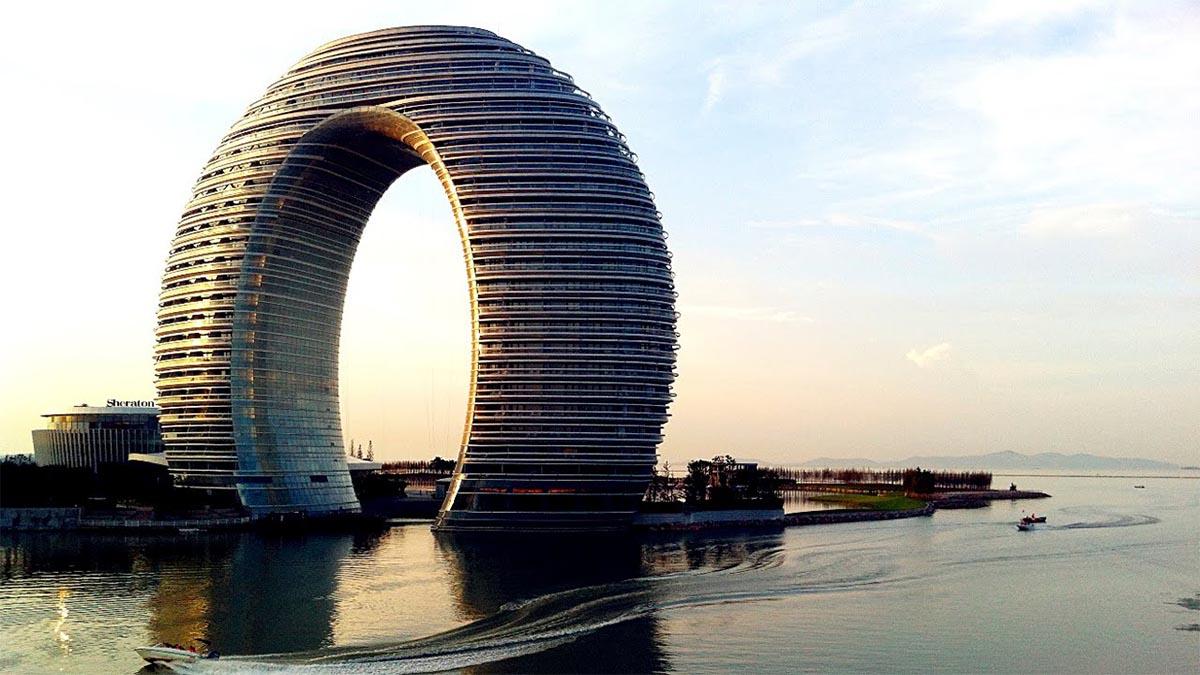 los nuevos edificios en China