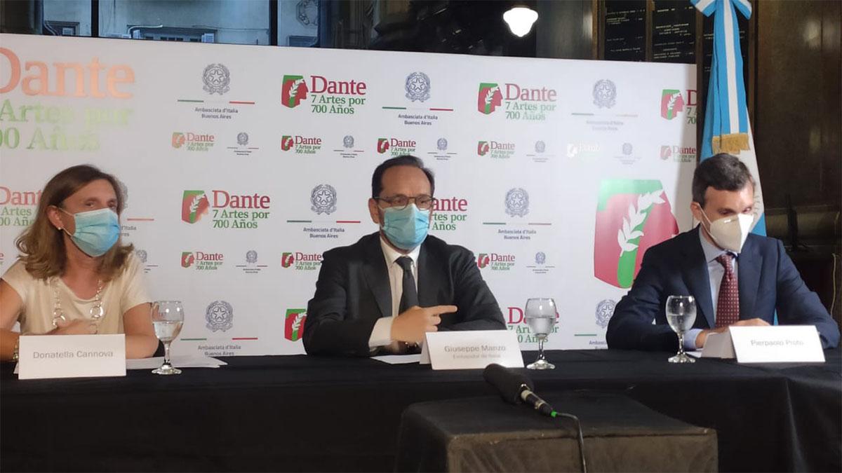 """La Embajada de Italia en Buenos Aires presentó, """"Dante: 7 artes por 700 años"""""""