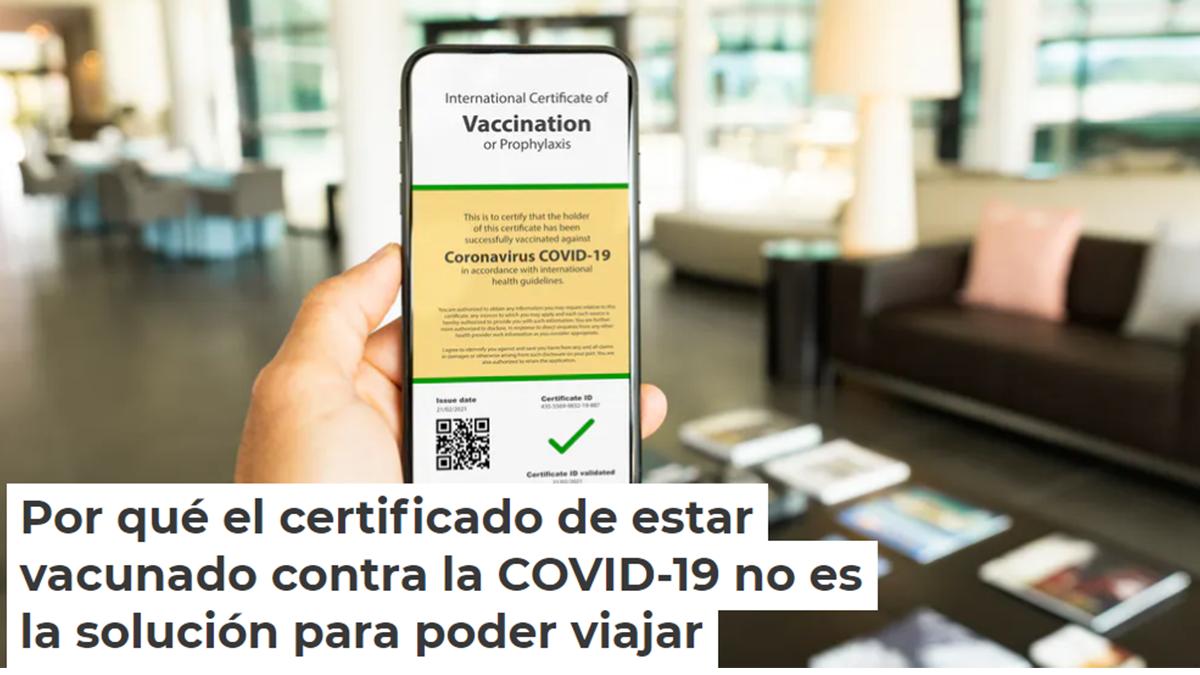 Covid-19 Tiene sentido el certificado de viaje?