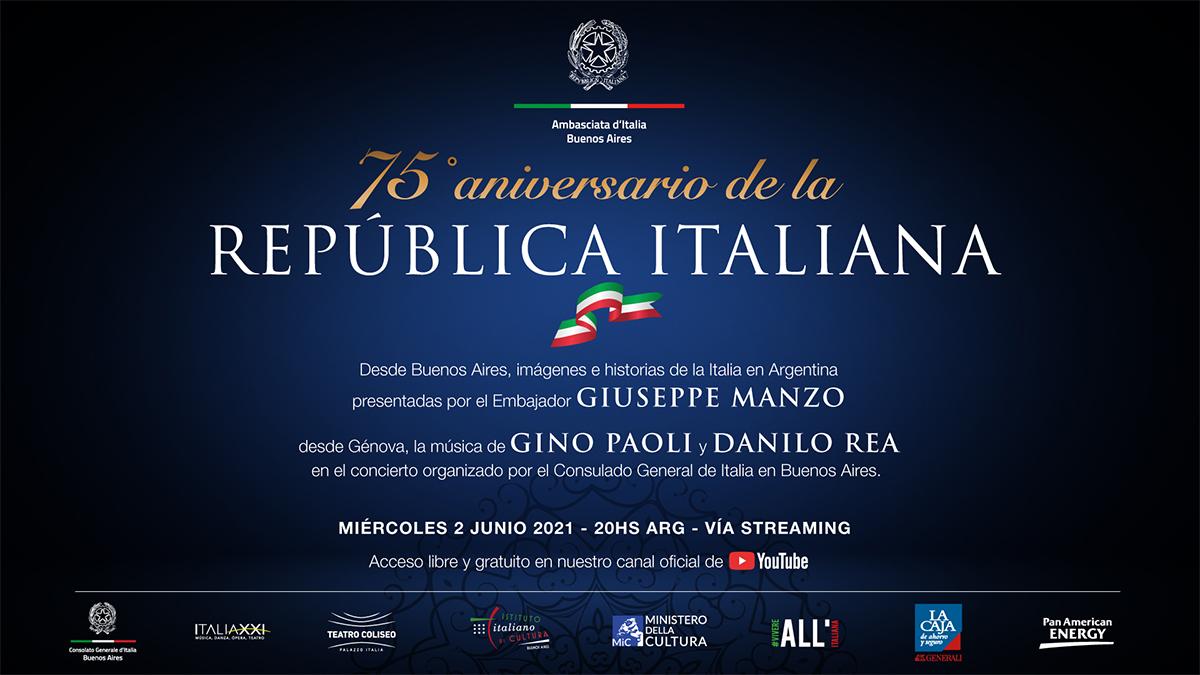 En el 75º Aniversario de la República Italiana, la Embajada de Italia en Buenos Aires abre virtualmente sus puertas a la comunidad