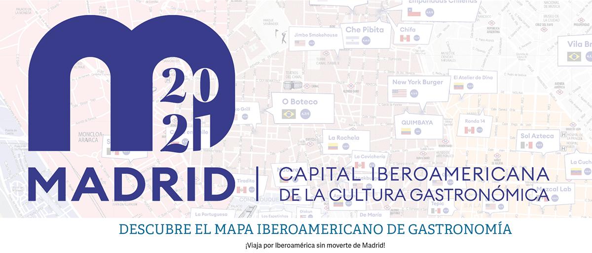 Mapa gastronómico de Madrid con destacados restaurantes iberoamericanos