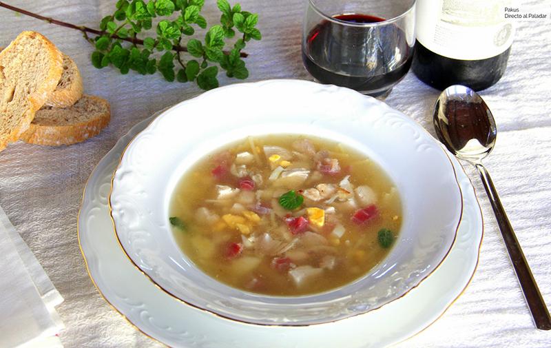 sopa de picadillo en Andalucía