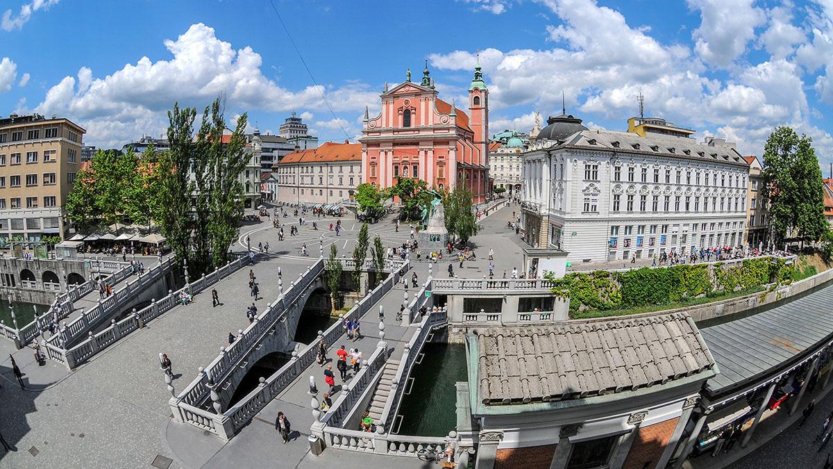 El sitio incluye una serie de espacios públicos (plazas, parques, calles, paseos, puentes) e instituciones públicas