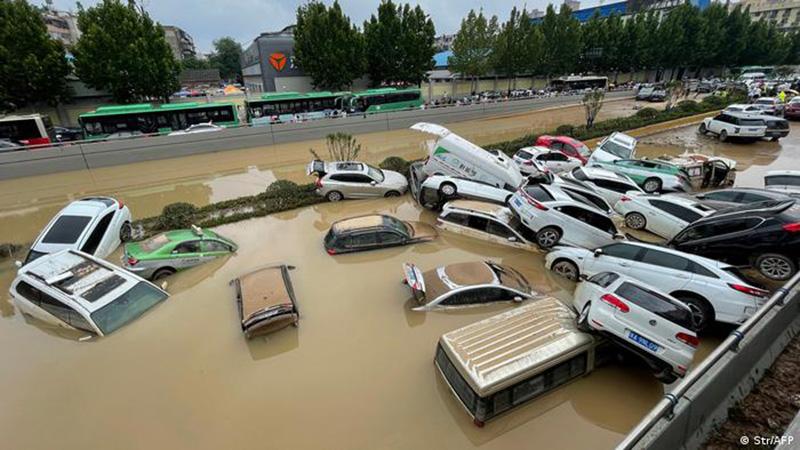 Graves inundaciones en Hunan, China.