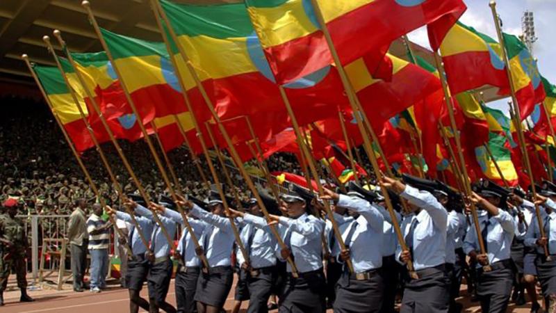 Los tres colores principales de la bandera de Etiopía representan el panafricanismo y varios estados poscoloniales los adoptaron.