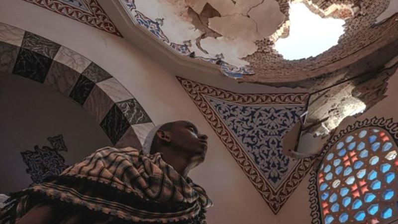 Uno de los mausoleos de la histórica mezquita de al-Negashi - Etiopía -resultó dañado en el actual conflicto de Tigray.