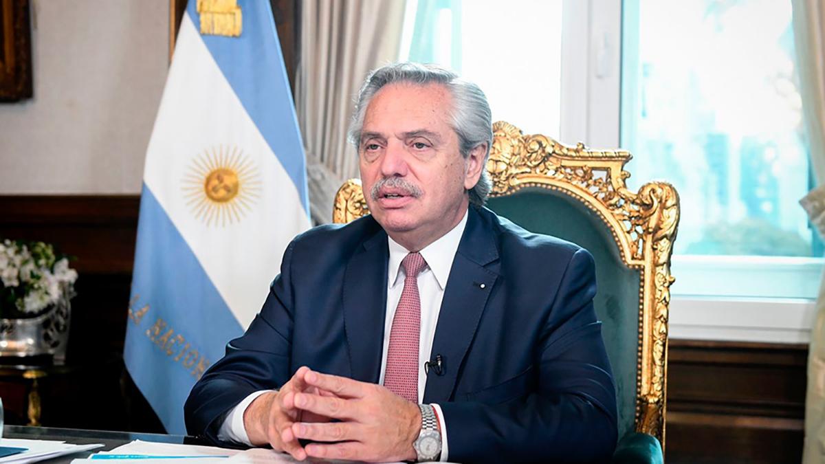 """Alberto Fernández presidente Argentino en la pre Cumbre <br><strong>""""Camino hacia Glasgow. Mejorando la ambición climática""""</strong>,"""